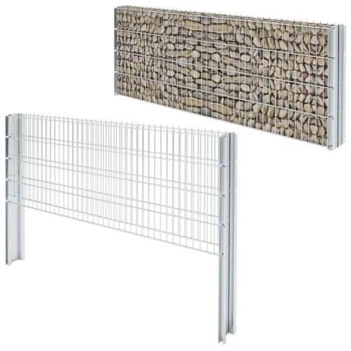 Set di recinzione Gabion 2D 2008x830 mm 2 m zincato