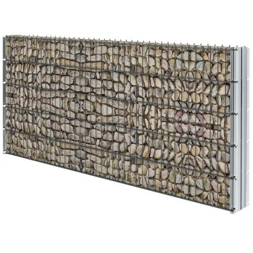 Set di recinzione Gabion 2D 2008x1030 mm 4 m Grigio