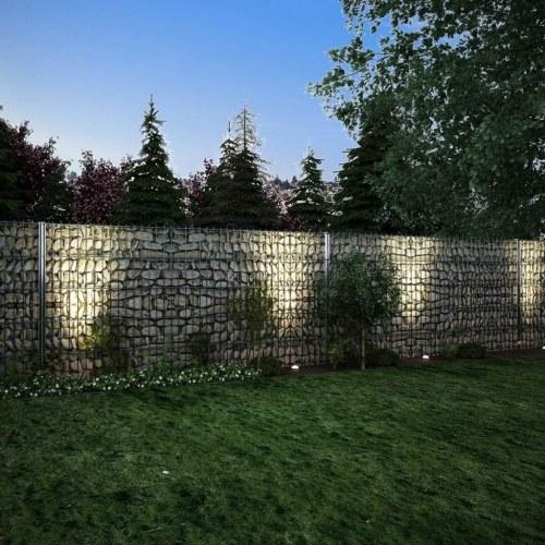 2d gabion fence set 2008x1030 mm 4 m galvanised