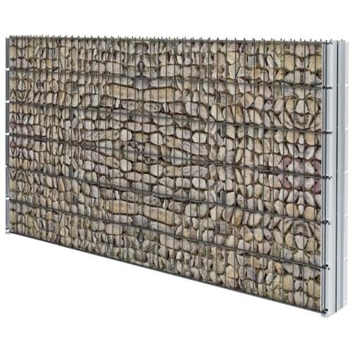 Set di recinzione Gabion 2D 2008x1230 mm 8 m Grigio
