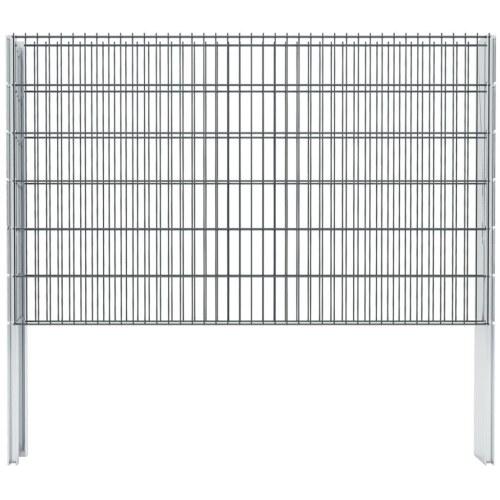Set di recinzione Gabion 2D 2008x1230 mm 10 m Grigio