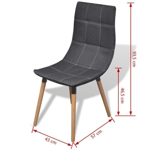 Обеденные стулья 6 шт Темно-серый (244154 + 244155)