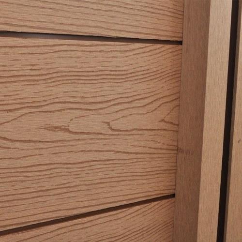Garden Fence Panels 2 pezzi WPC Marrone 361 cm