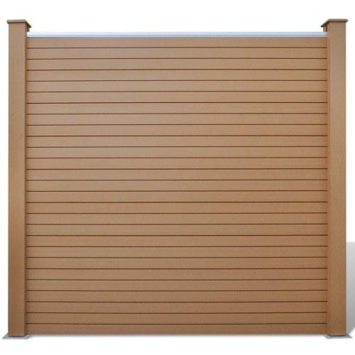 Garden Fence Panels 4 pezzi WPC marrone 715 cm