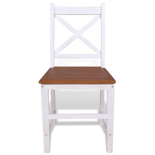 Обеденные стулья 6 шт. Твердое тиковое красное дерево (244114 + 244115)