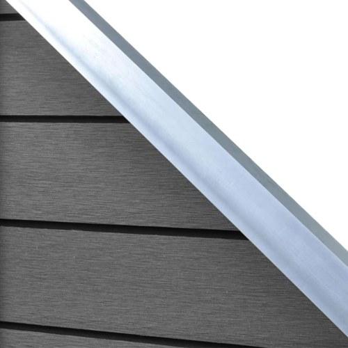 Set di pannelli per recinzione  3 quadrati + 1 inclinato 638 cm WPC grigio (3x42817 + 41555)