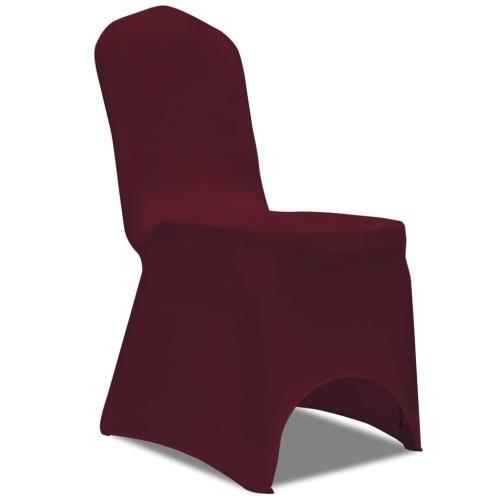 100 pezzi coprisedie elastiche Bordeaux (130339x2)