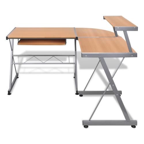 Grand bureau brun pour ordinateur