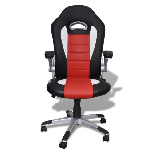 Fauteuil en similicuir moderne de bureau design rouge