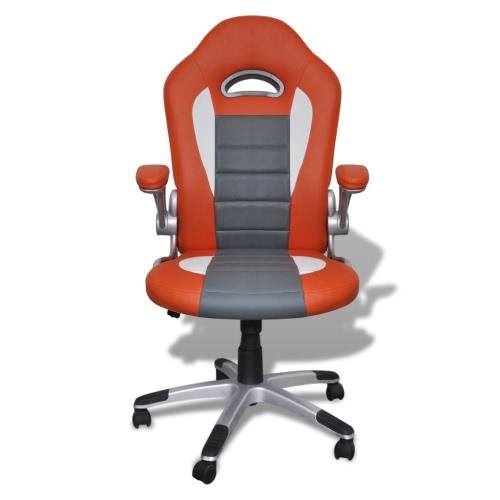 Fauteuil en similicuir moderne de bureau design orange