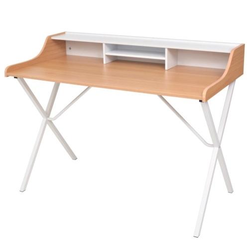 Bureau scandinave couleur pin et blanc