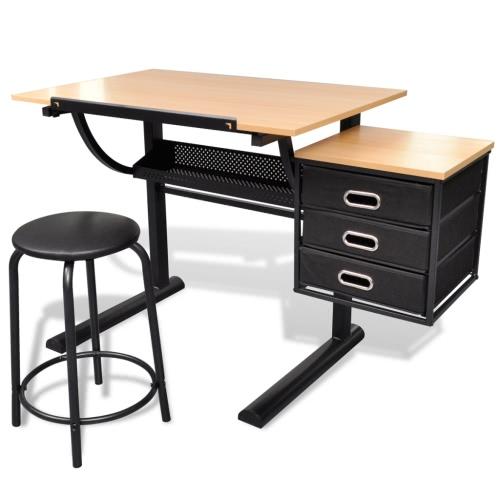 Table à dessin inclinable et tabouret