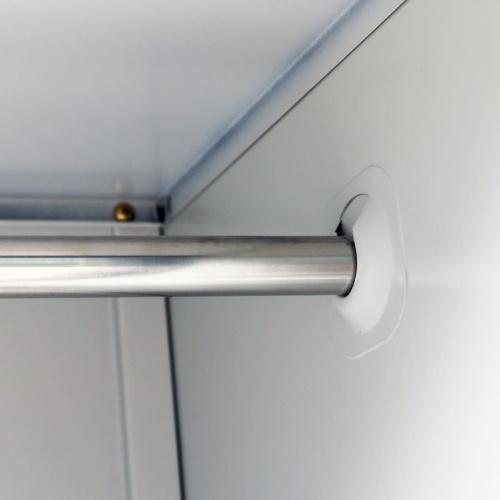 Kleiderschrank mit 3 Fächern Stahl 90x45x180 cm Grau