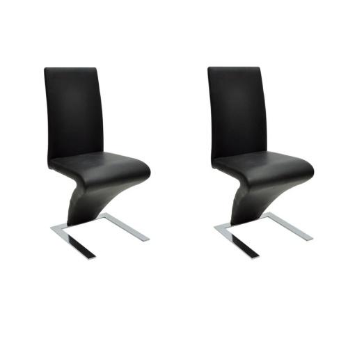 Lot de 2 chaises modernes, noir