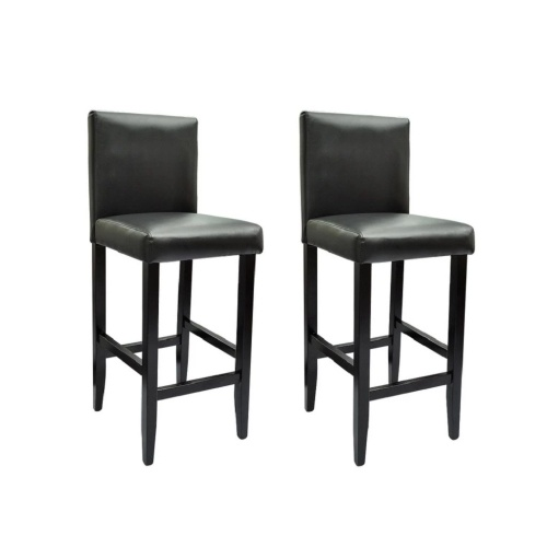 Lot de 2 chaises haute noir
