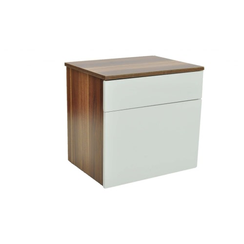 Ensemble de 2 tables de chevet Marron