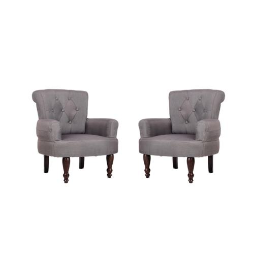 Lot de 2 de fauteuils élégant Gris