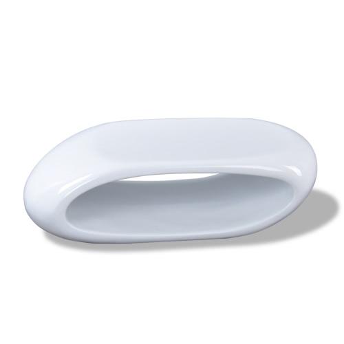 Table basse blanc brillant