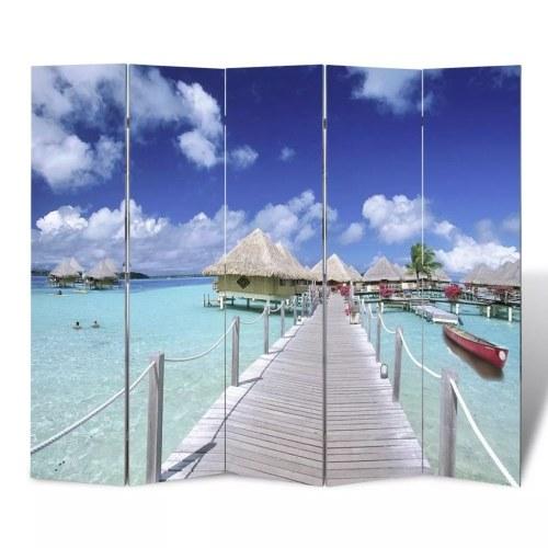 Paravent imprimé paysage mer 200 x 180