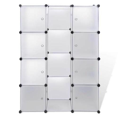 Armoire modulable blanc avec 9 compartiments