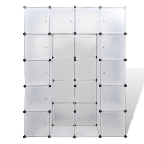Armoire modulable noir et blanc avec 14 compartiments