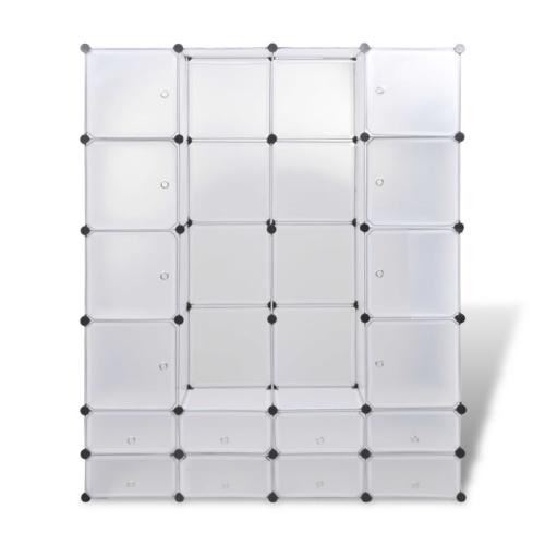 Armoire modulable blanc avec 18 compartiments