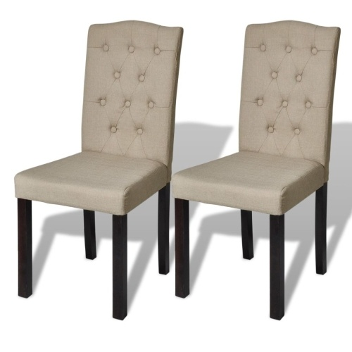 Lot de 2 chaises de salon beige