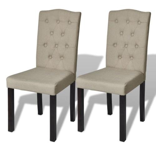 Lot de 2 chaises de salon beige