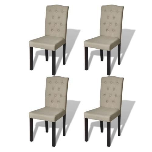 Lot de 4 chaises beige
