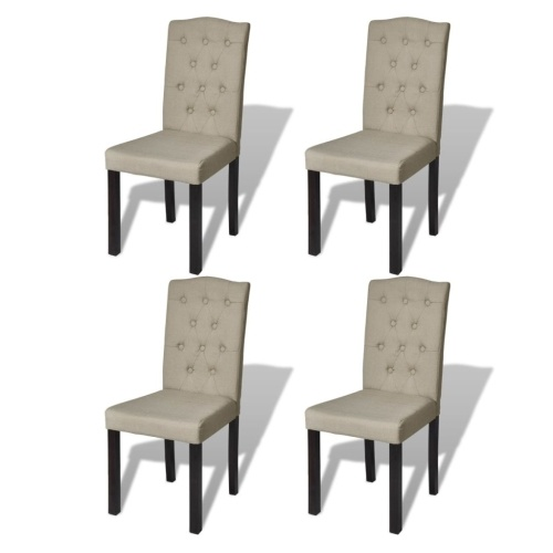 Lot de 4 chaises beige