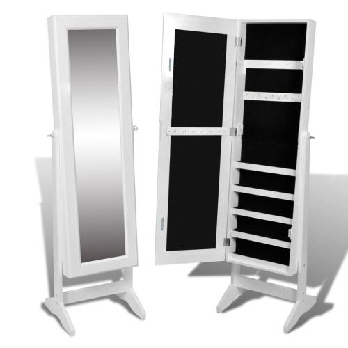Armoire à Bijoux -  miroir - blanc