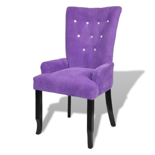 Chaise design capitonnée violet