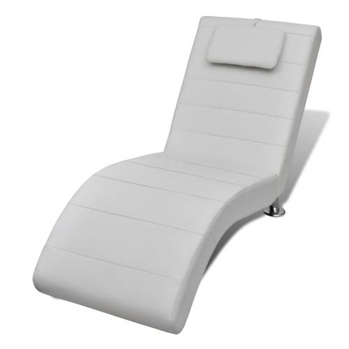 Chaise longue en acier - blanc