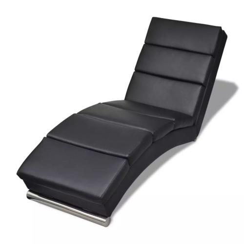 Chaise longue d'intérieur - noir