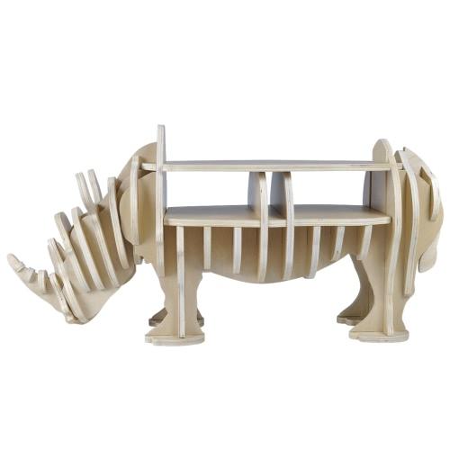 Etagère en bois forme de rhinocéros