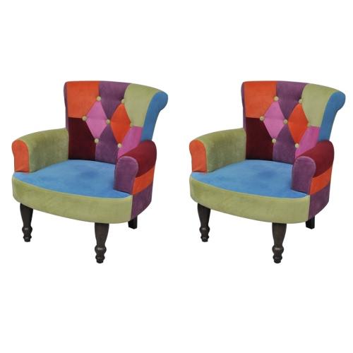 Lot de 2 fauteuil patchwork
