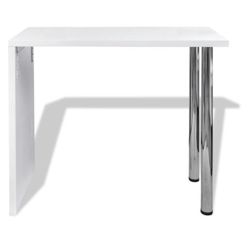 Table Blanche vernissée Table de bar 2 pieds