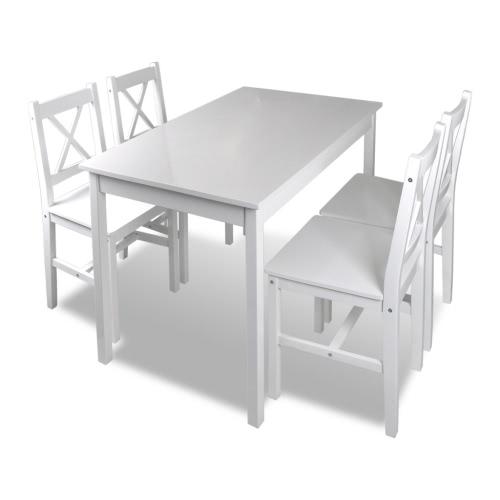 Ensemble table et chaises blanc - 4 personnes