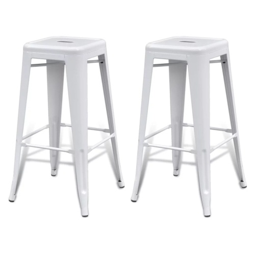 Lot de 2 tabourets de bar Blanc