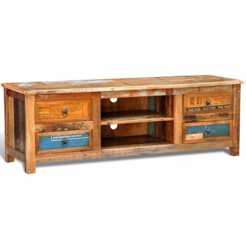 Meuble TV vintage en bois recyclés