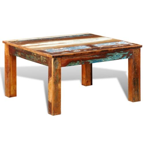 Table basse vintage - bois de récupération