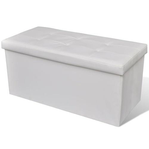 Banc de rangement pliable Blanc