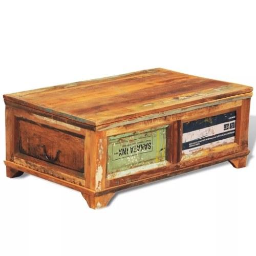Table basse vintage Bois recyclé