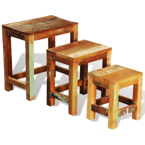 Ensemble de 3 tables basses gigognes