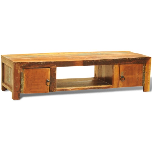 Table basse vintage en bois recyclé