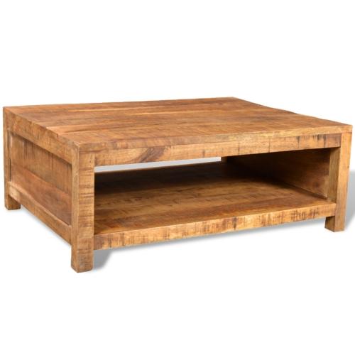 Table basse carrée en manguier style antique