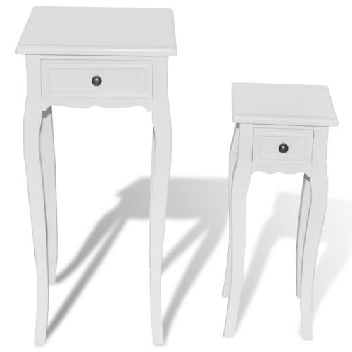 Ensemble de deux tables d'appoint tailles différentes