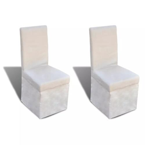 Lot de 2 chaises de salle à manger crème