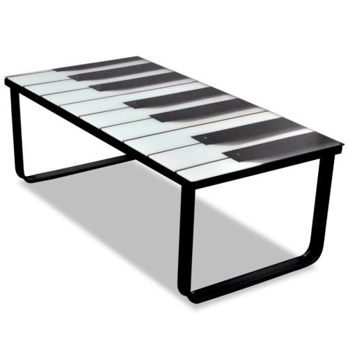Table basse en verre piano
