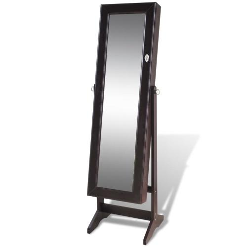 Armoire à Bijoux avec miroir Brun